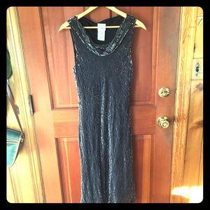 Vintage velvet Laura Ashley midi dress